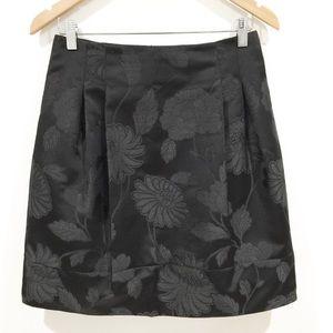 Karen Millen Black Floral Print miniskirt Sz 6
